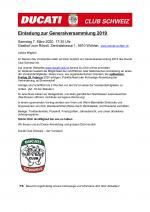 Einladung zur GV 2020